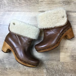 UGG Lynnea Leather Shearling Boot 7